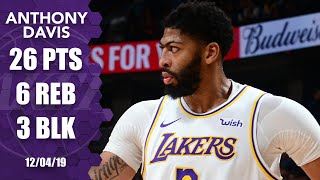 Anthony Davis drops 26 points, throws down big dunk for Lakers vs. Jazz | 2019-20 NBA Highlights