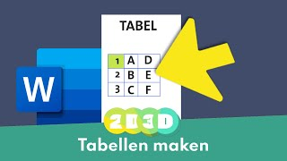 Maak de vetste tabellen in Word! Zo doe je dat.