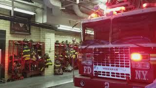 Brand new FDNY Ladder 2 responds to Box 4500