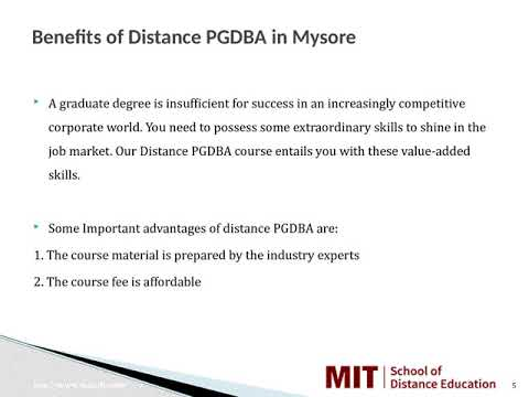 Distance Management Courses   Correspondence MBA   Distance MBA in Mysore