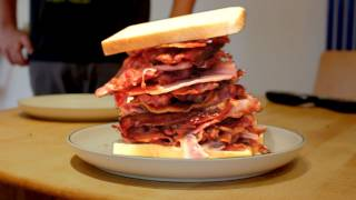 GIANT BACON SANDWICH! | Challenge Pete
