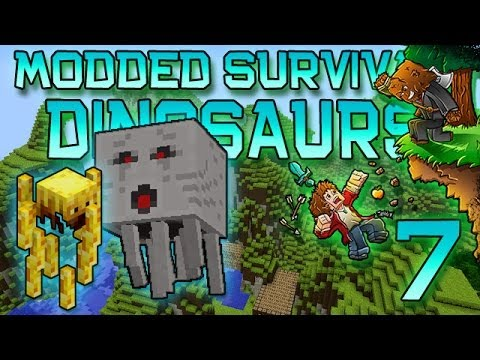 Minecraft: Modded Dinosaur Survival Let's Play W/Mitch! Ep. 7 - NETHER, GHASTS, & BLAZES! - Smashpipe Games