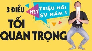 3 ĐIỀU TỐI QUAN TRỌNG CHO THỜI SINH VIÊN | Nguyễn Hữu Trí