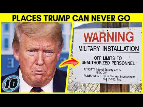Белата куќа и уште 9 места кои Доналд Трамп повеќе не смее да ги посети
