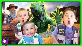 JURASSIC DINO ADVENTURE! Surprises with HobbyHickory and Dinosaurs with HobbyKidsTV