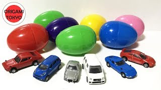 Learning Colors with Surprise Eggs Unwrapping Colour Cars fun for Kids