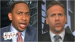 Stephen A. & Max get heated arguing about Kawhi's Game 7 struggles   First Take