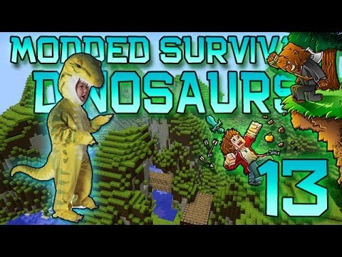 Minecraft: Modded Dinosaur Survival Let's Play W/Mitch! Ep. 13 - EVIL T-REX! - Smashpipe Games