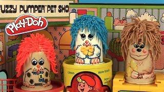 Pâte à Modeler Play Doh Coiffeur pour Animaux Vintage Fuzzy Pumper Pet Shop