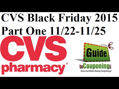 CVS Black Friday 2015 Ad Deals and Sales - Part 1 11/22 - 11/25 - Guide to Couponing