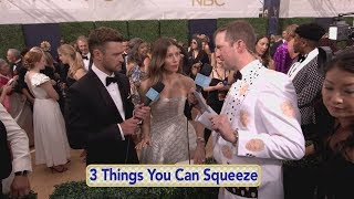 Justin Timberlake, Heidi Klum, and Allison Janney Visit Andy on Emmys Red Carpet