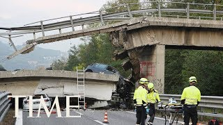 Bridge Collapse In Genoa, Italy Kills At Least 20 People | TIME
