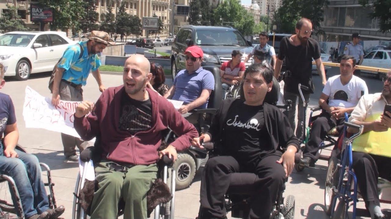 Акцию протеста в Баку провели люди с инвалидностью