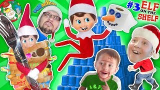 STACKING CUPS Elf on the Shelf Tower! DIY Build a Snowman  Toilet Paper Craft FUNnel V Fam Vlo