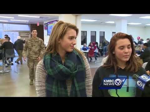 Soldier surprises sisters at Winnetonka High School