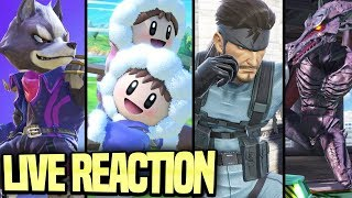NEW RIDLEY, SNAKE, ICE CLIMBERS, & MORE!! SUPER SMASH BROS ULTIMATE E3 2018 GAMEPLAY LIVE REACTION