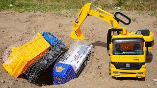 Excavator Dump Trucks troll Truck Toys Animals Truck, Transport Truck   Crane Truck Toys TOTO TV
