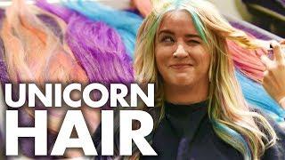 Lily's Pastel Unicorn Hair for COACHELLA! (Beauty Trippin)
