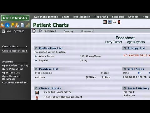 Greenway EMR - 2 Minute PrimeSUITE Overview