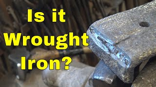 Identifying wrought iron