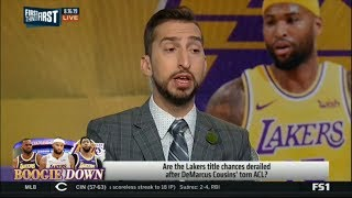 First Things First   Are the Lakers title chances derailed after DeMarcus Cousins' torn Achilles?