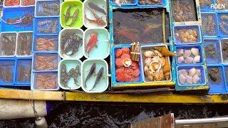 Hong Kong's Floating Seafood Market & Fish Cutting