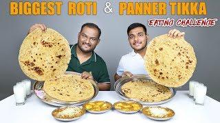 PANEER TIKKA & ROTI EATING CHALLENGE | Punjabi Sabji & Roti Eating Competition | Food Challenge