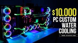 Timelapse | Gaming PC Thermaltake Core P7 giá 230 triệu với tản nước Custom | i9 7900x - SLI 1080Ti