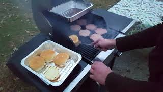 How to grill burgers on gas grill.