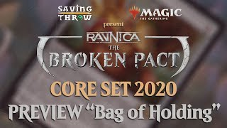 """[M20] Official Magic the Gathering Core Set 2020 Preview Card - """"Bag of Holding"""""""
