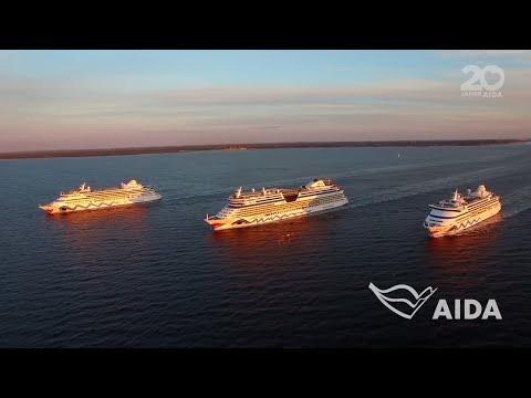 Dreifachauslauf AIDAvita, AIDAaura und AIDAluna in Kiel