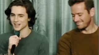 (very short)Armie Hammer's reaction to Timothée Chalamet's air kiss(fan edit)