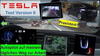 Tesla  TEST Version 9: Praxistest Autopilot zur Arbeit