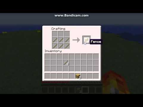 How To Craft Fences And Gates In Minecraft