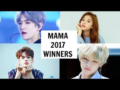 MAMA 2017 WINNERS   All Winners