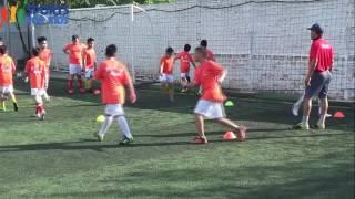 Video: Các học trò của cựu danh thủ Hồng Sơn đội nắng tập luyện