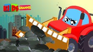 Little Red Car | Bulldozer Song | Nursery Rhymes | Songs For Kids | Car Cartoons