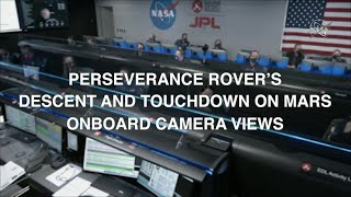 NASA Video of Perseverance Rover's Mars Landing From Onboard Cameras