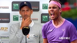 """Novak Djokovic """"The biggest challenge is to play against Nadal on clay"""" - Rome 2021 (HD)"""