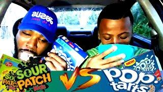Pop Tarts Cereal vs Sour Patch Kids Cereal (Taste Test)