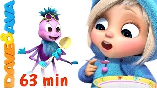 ☀️️ Little Miss Muffet | Nursery Rhymes Collection | Finger Family Songs from Dave and Ava ☀️️
