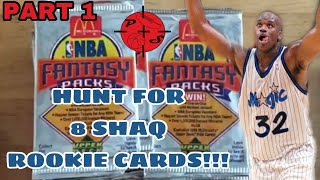 HUNT FOR 8 SHAQ ROOKIE CARDS! Part 1 Opening McDonalds 1992-1993 NBA basketball card packs!