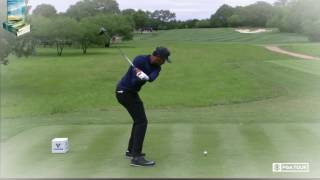 Tony Finau Golf Swing Super Slow Motion DTL Down the Line 2017