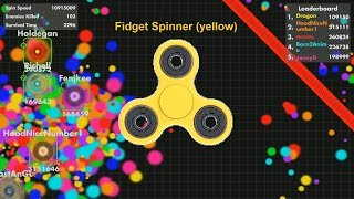 Fisp.io High Score 19,500,000 (Fidget Spinner Golden)