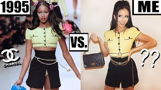 DRESSING LIKE A 90's SUPERMODEL FOR A WEEK!