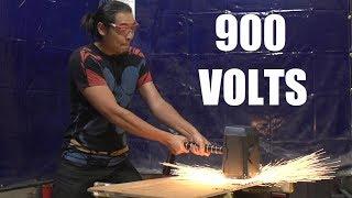 900V Capacitor Thor's Hammer!!! (beer can ragnarok)
