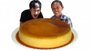 Bà Tân Vlog - Làm Bánh Flan Caramen Siêu To Khổng Lồ | Giant Flan Cake