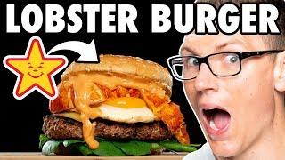 Carl's Jr. Lobster Champagne Brunch Burger Taste Test | FUTURE FAST FOOD