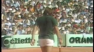 FASI DELLA FINALE ROLAND GARROS 1976 PANATTA SOLOMON CON SCAMBIO CONCLUSIVO