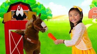 Wendy Pretend Play As a FARMER Taking Care of Animals & Farm
